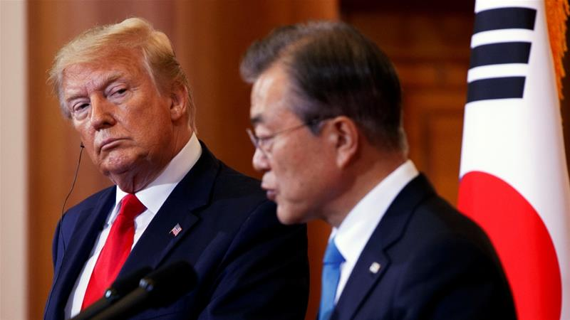 The South Korean leader is expected to be in New York in late September for the annual UN General Assembly [Jacquelyn Martin/Reuters]