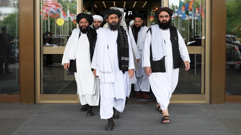 It was the Taliban's first international visit following the collapse of talks with Washington [Evgenia Novozhenina/Reuters]