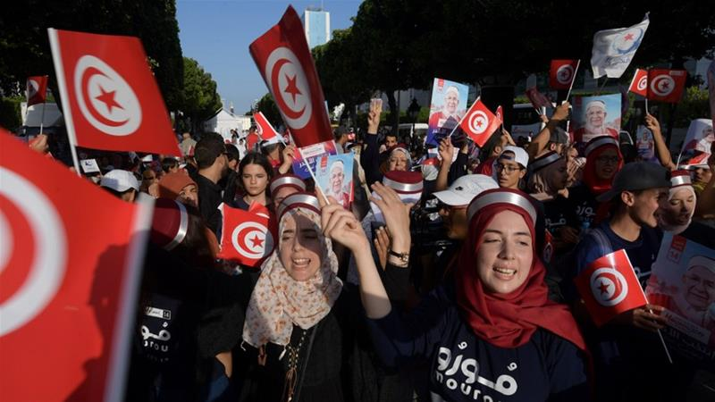Who are the main candidates in Tunisia's presidential election?