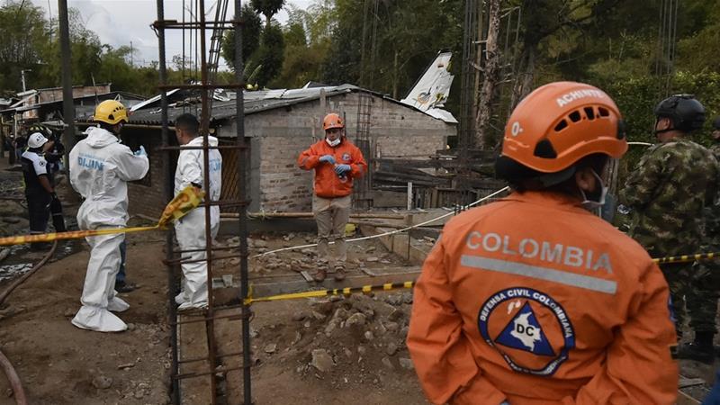 Colombia plane crash kills seven and injures three