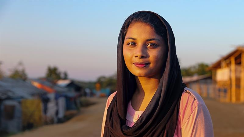 Rahima Akter is a young Rohingya woman who wants to pursue higher education [Fabeha Monir/Al Jazeera]