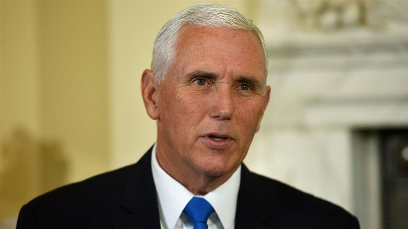 Saudi oil attacks: Pence repeats Trump's 'locked and loaded' line