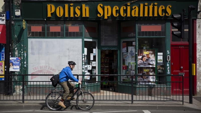 Around a quarter of the 832,000 Poles living in the UK have so far registered to remain in the country [File: Matt Dunham/AP]