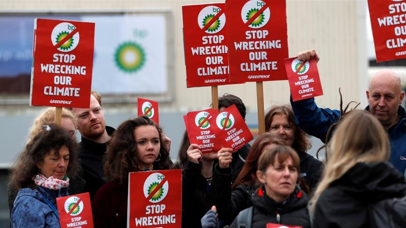 The agendas of climate protesters and human rights activists have converged in a nexus around the threats posed by carbon emissions and global warming [Russell Cheyne/Reuters]