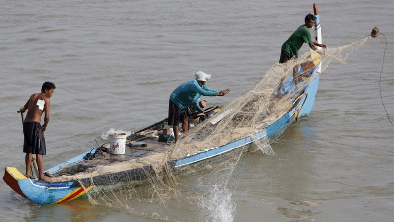 With more than 100 dams along the Mekong or its tributaries, fish migration is blocked [File: Kith Serey/EPA]