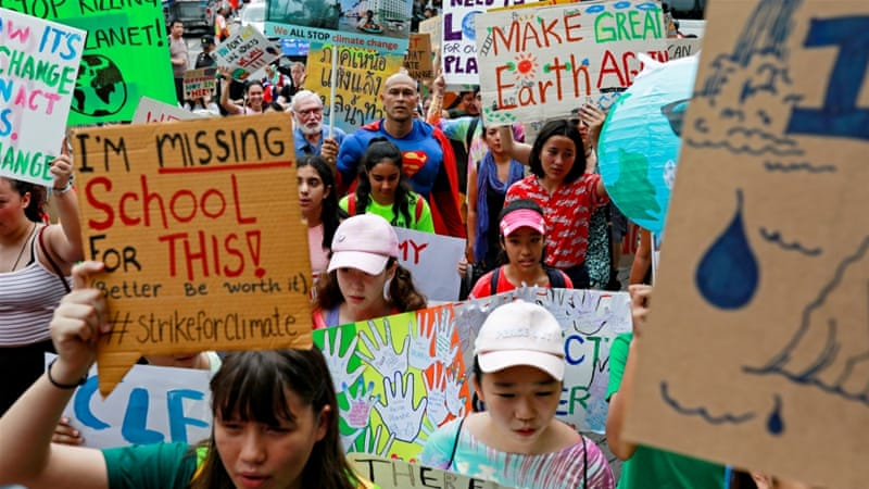'No Planet B': Millions join global climate strike