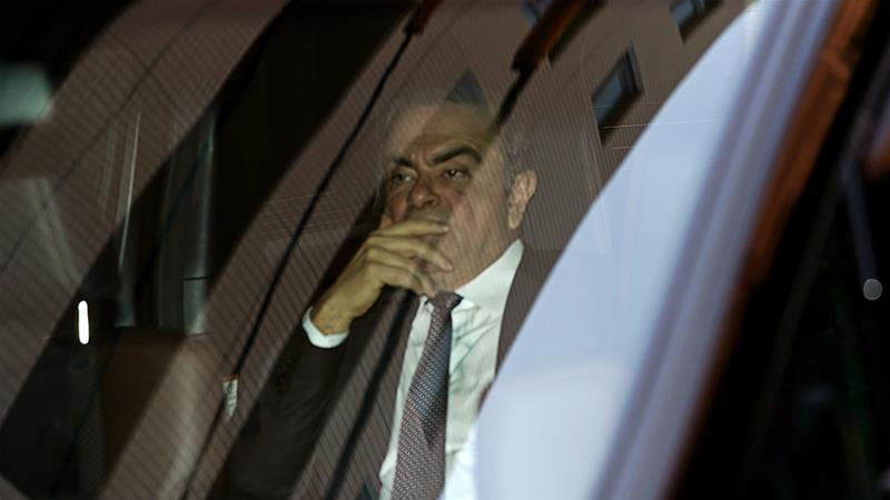 Nissan was fined $15m, while Ghosn, 65, was hit with a $1m penalty, the SEC said in a Monday statement [File:Toru Hanai/Bloomberg]
