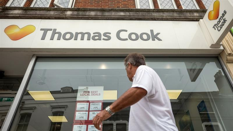Thomas Cook collapse leaves British travellers scrambling to find way home