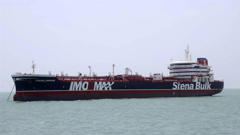 Stena Impero was seized by Iranian forces for alleged maritime violations [File: Tasnim News Agency/AP]