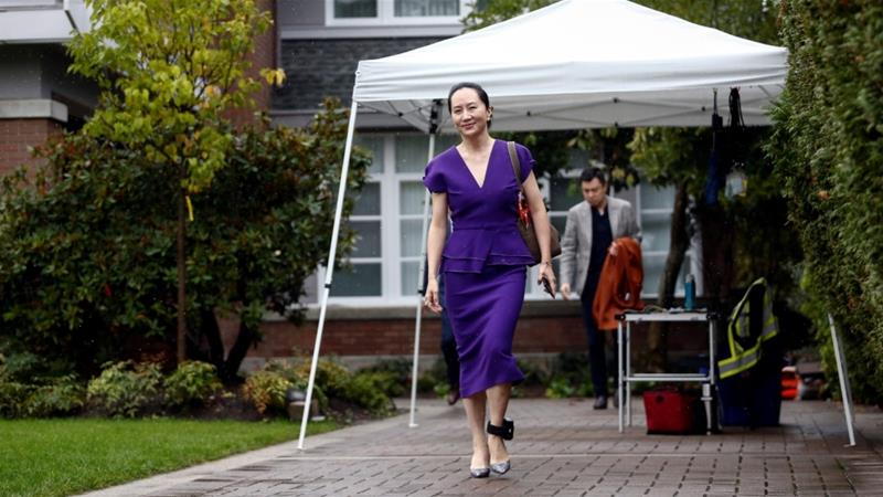 Huawei Technologies Chief Financial Officer Meng Wanzhou appeared for a hearing at a British Columbia supreme court on Monday [Lindsey Wasson/Reuters]