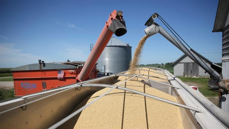 Earlier in September, China said it was considering lifting tariffs on US soybeans, pork and other agricultural products ahead of further trade negotiations in October [Daniel Acker/Reuters]
