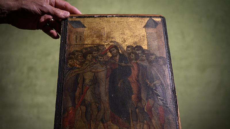 Long-lost 13th-century painting found hanging in woman's kitchen