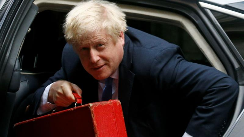 Conservative Party members in July picked Johnson as the leader of the party, making him by default the country's prime minister [Henry Nicholls/Reuters]