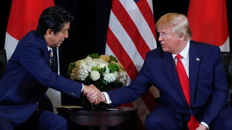 Japan's Prime Minister Shinzo Abe said that US President Donald Trump has promised not to impose fresh tariffs, but a written guarantee has yet to be signed[File:Jonathan Ernst/Reuters]