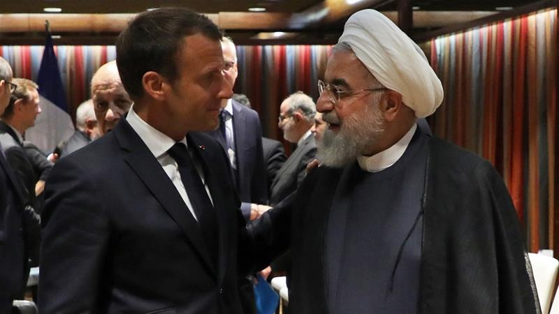Macron says conditions in place for Trump, Rouhani talks