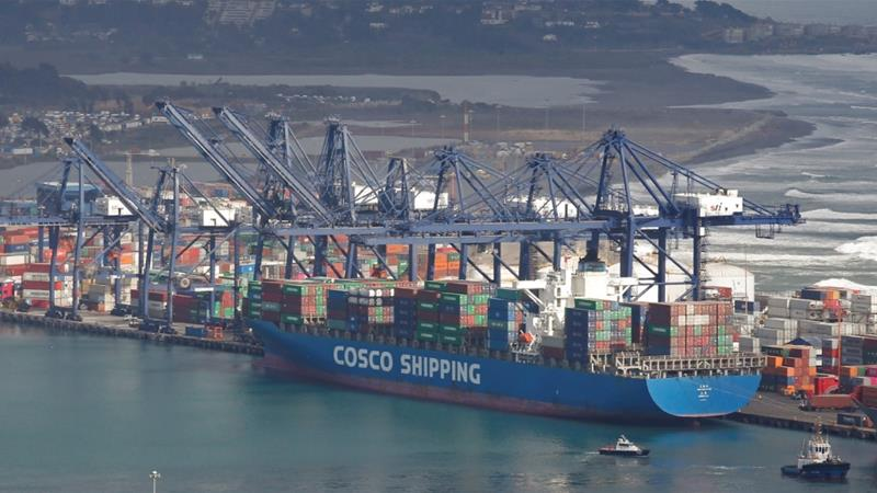 Ships from the China Ocean Shipping Company (COSCO) are among those that were slapped with sanctions by the US on Wednesday [File: Rodrigo Garrido/Reuters]