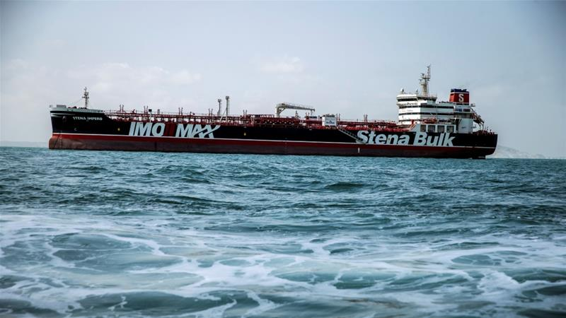 Iran said they seized the tanker in the Strait of Hormuz for alleged violations including turning off its tracking devices [File: Nazanin Tabatabaee/WANA via Reuters]