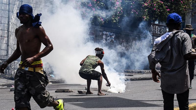 Image result for Street protest on Friday in the Haitian capital