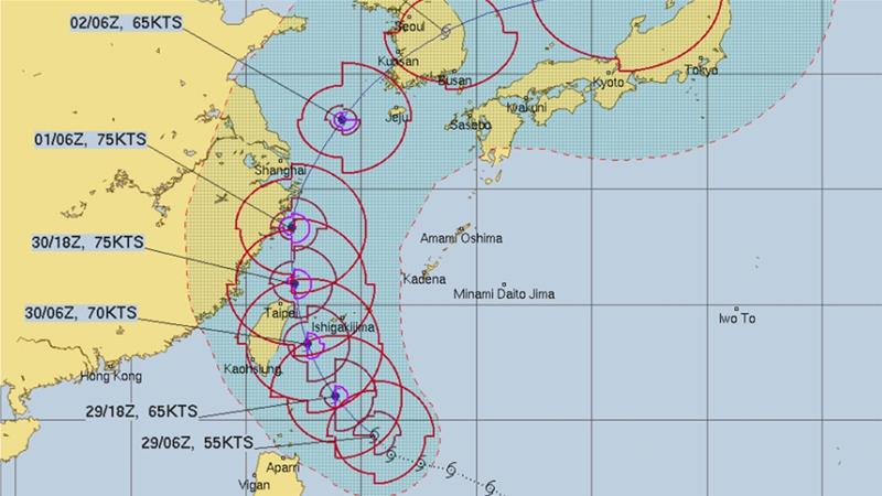 Typhoon may approach western Japan on Wednesday
