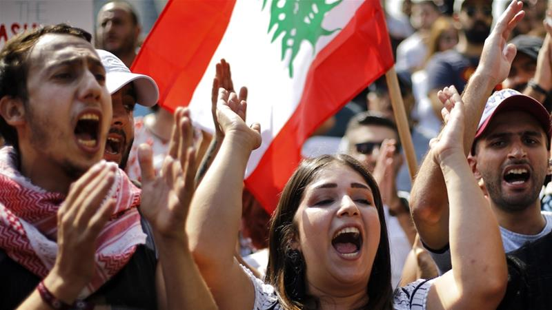 Anti-government protests have been ongoing in Lebanon as discontent spreads over the government's handling of the economy [File: Bilal Hussein/AP]