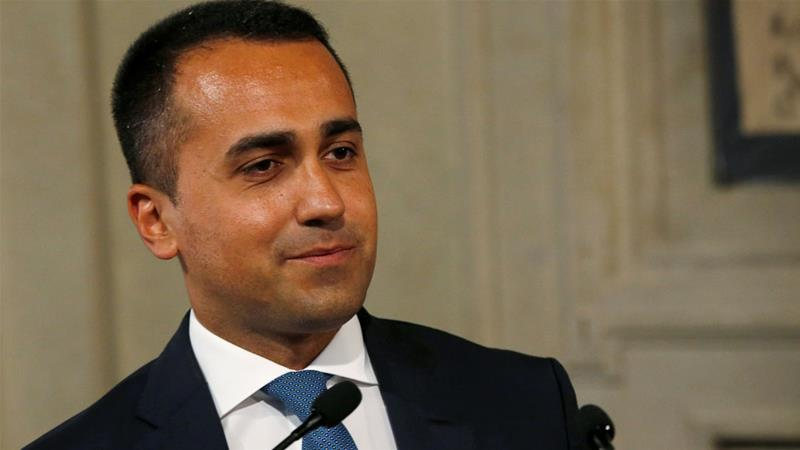 Party leader Luigi Di Maio said 80 percent of members voted yes to form a government [Ciro de Luca/Reuters]