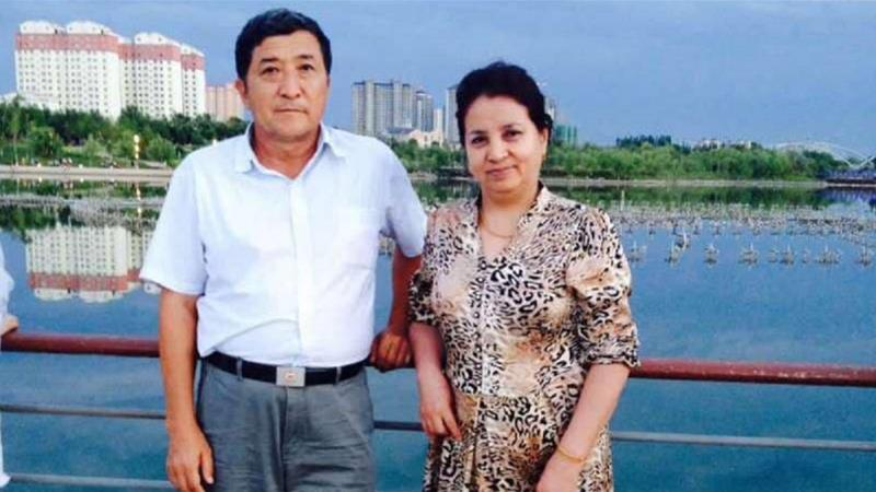 Niyazi (left) was released on Saturday in Urumqi after 18 months in detention [Al Jazeera via Aiziheer Ainiwaer]