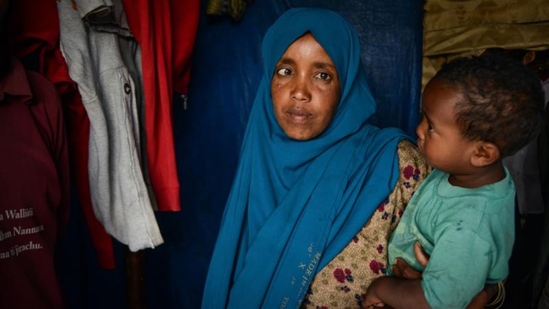Amina Yuya was one of tens of thousands of ethnic Oromos chased from home by armed gangs in eastern Ethiopia two years ago. [Tom Gardner/Al Jazeera]
