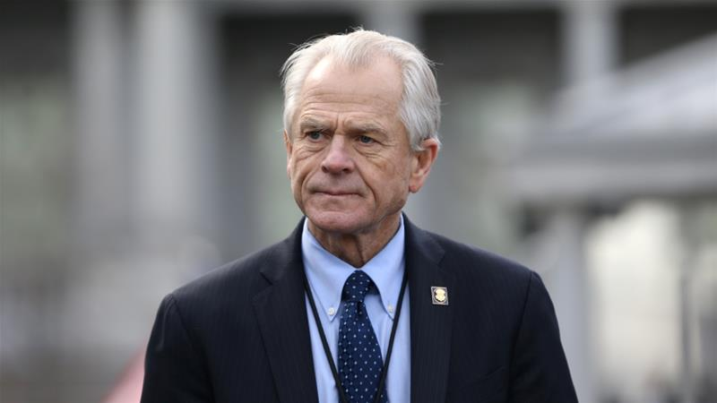 Navarro criticised the journalism behind the Bloomberg report, without offering assurances to China [File: Leah Millis/Reuters]