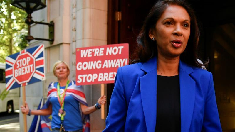 Business owner Gina Miller has been a prominent legal campaigner against Brexit [Toby Melville/Reuters]