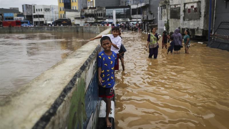According to studies, the northern part of Indonesia's capital city Jakarta is sinking 2.5 metres every 10 years [File: Mast Irham/EPA]