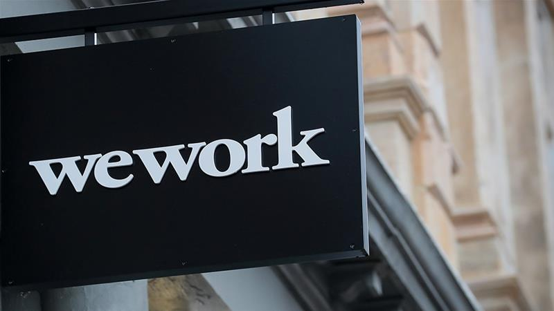 WeWork's initial public offering plans, filed last month, were greeted by sometimes blistering criticism for the way the company obscured key details about the economics of its business [File: Brendan McDermid/Reuters]