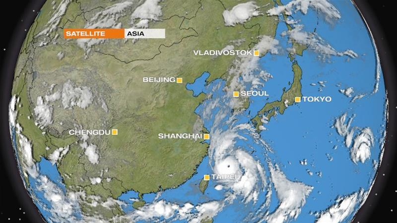 Typhoon Lingling is the thirteenth typhoon of the year and is expected to hit the Korean Peninsula. [Al Jazeera]