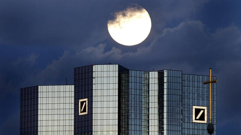 Deutsche Bank is cutting about a fifth of its workforce [File: Kai Pfaffenbach/Reuters]