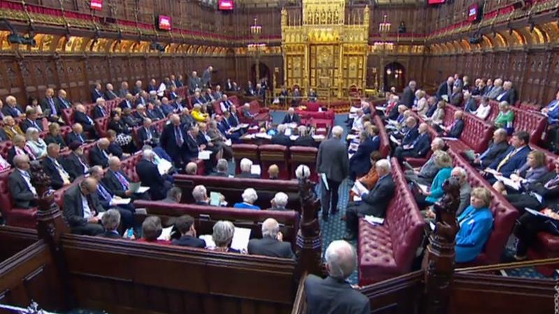 The House of Lords had threatened to filibuster the bill to delay Brexit, but reached a deal earlier in the week [Videograb: PRU via AFP]