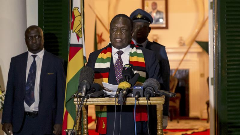 President Mnangagwa declared Robert Mugabe a 'national hero' after his death on Friday [Jekesai Njikizana/AFP]