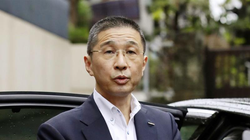 Outgoing Nissan President Hiroto Saikawa, who has not been charged, said he did not know about financial improprieties and promised to return the money [File: Issei Kato/Reuters]