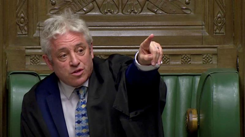Bercow sparked ire among Conservative MPs with his interpretation of Commons rules [Reuters]