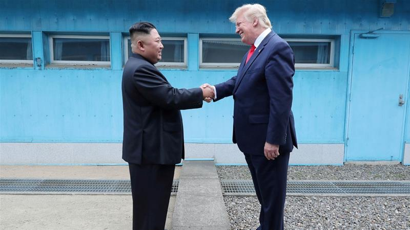The two leaders last had an impromptu meeting at the DMZ in June this year [Reuters]