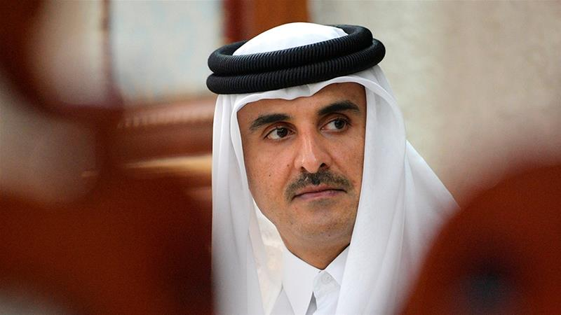 Qatar's Emir Sheikh Tamim bin Hamad Al Thani will meet Iranian officials [File: Alexei Druzhinin/Kremlin Pool Photo via AP]