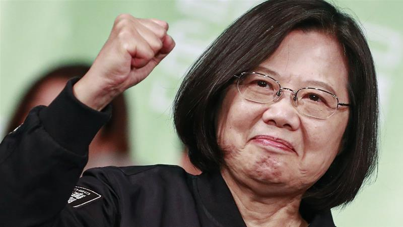 Tsai Ing-wen was returned for a second term with a landslide in a repudiation of mainland China [How Hwee Young/EPA]