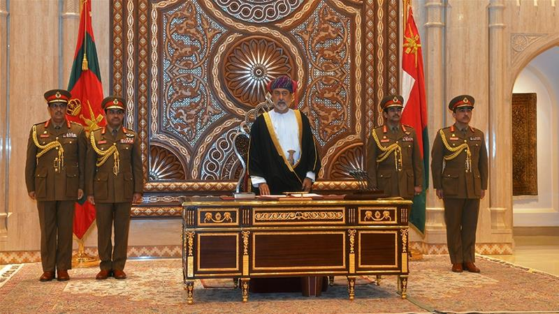 Western governments, as well as Oman's Arab neighbours, are sure to seek reassurance from new Sultan Haitham bin Tariq Al Said that Oman will continue to serve as a counterweight to Iran, which controls the opposite shore of the Strait of Hormuz [File: Sultan Al Hasani/Reuters]