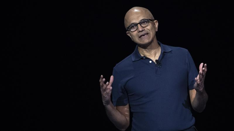 Nadella said he was shaped by 'growing up in a multicultural India' [AFP]