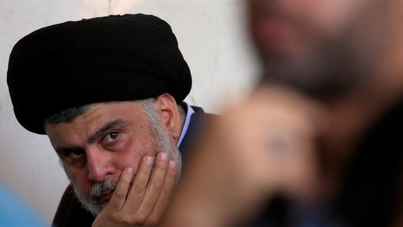 Muqtada al-Sadr called on Iraqis to hold unified demonstrations to condemn the United States presence and its violations [File: Alaa al-Marjani/Reuters]