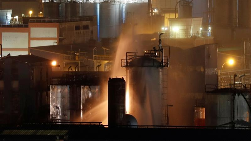 Chemical plant explosion in northeastern Spain kills 1, injures 8