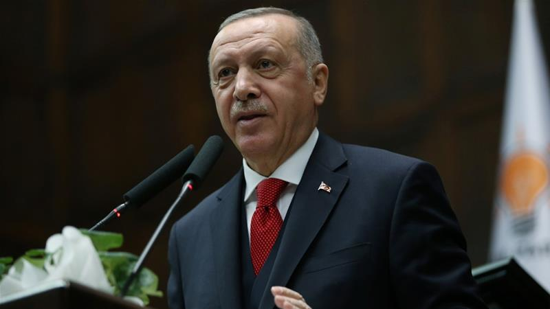 Erdogan urged Russian forces in Idlib to 'stand aside' while Turkey struck targets in retaliation to a Syrian government forces assault [Reuters]