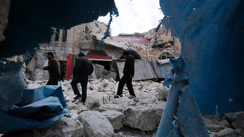 The town of Ariha in Idlib has come under attack various times in the month of January [File: AP]