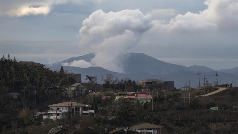 New openings on the slope of the volcano, the widening of road cracks in nearby towns, and a receding shoreline around Taal Lake could also indicate bigger eruptions, experts said [Eloisa Lopez/Reuters]