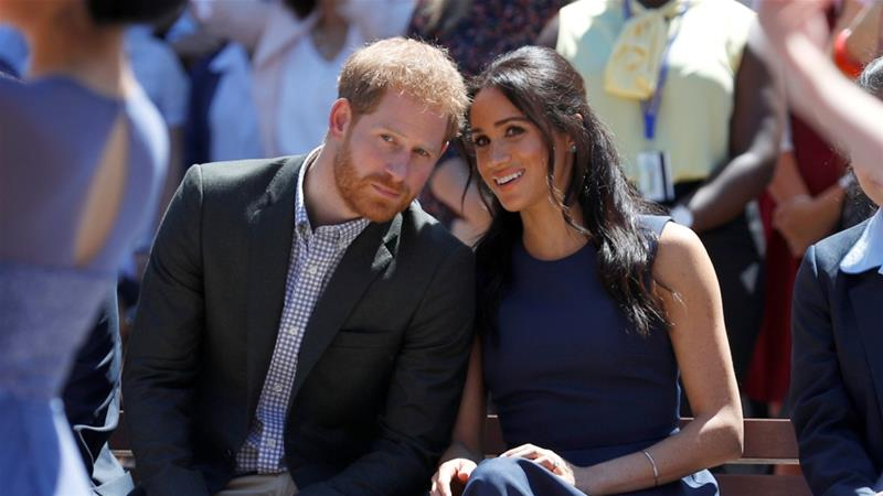 Prince Harry, 35, and Markle, 38, sparked a crisis in the British monarchy this month by announcing they wanted to reduce their royal duties and spend more time in North America [File: Phil Noble/Reuters]