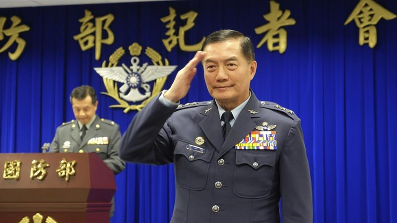 Taiwan military chief among eight dead as helicopter makes forced landing