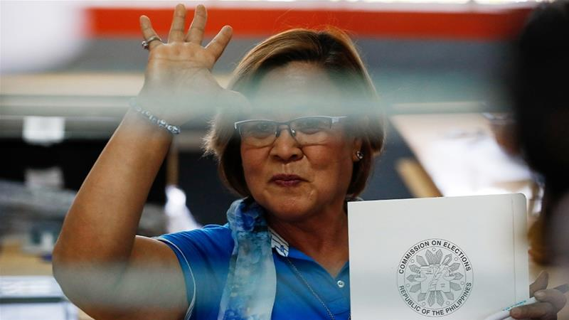 Detained Philippine Senator Leila de Lima who was allowed to vote in last year's elections has condemned the charges against her [Mark R Cristino/EPA]